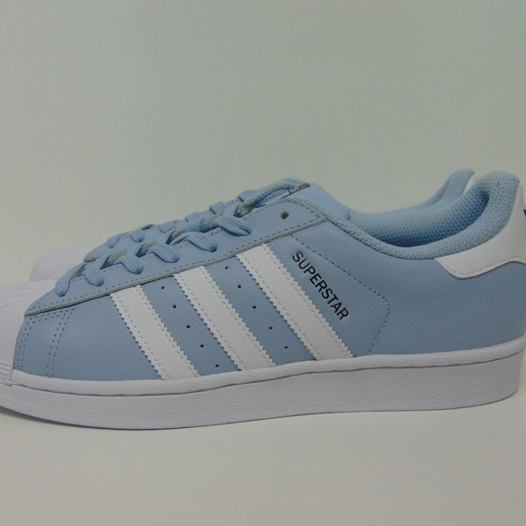 Adidas Superstar Shoes BW1305 Baby Blue Size 8 Men NWT